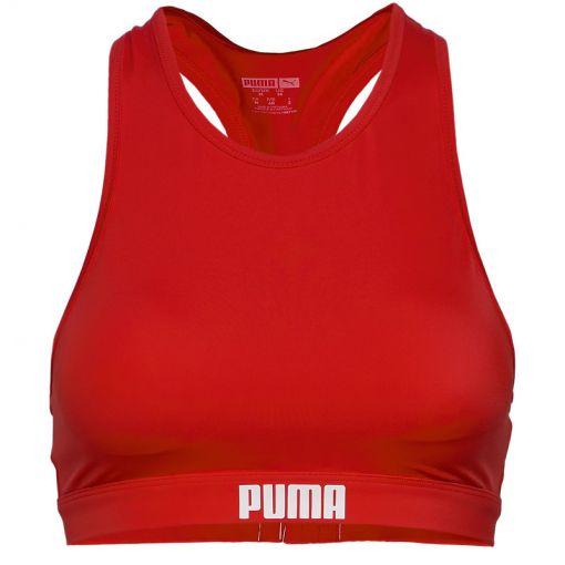 PUMA SWIM WOMEN RACERBACK SWIM TOP - 002 red