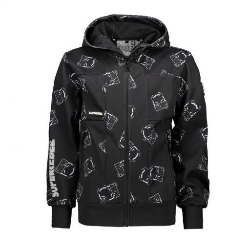 SuperRebel jongens softshell jas Outdoor Functiona - Zwart