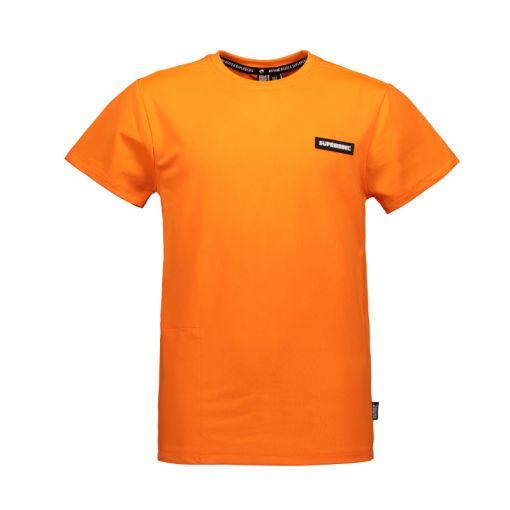 SuperRebel jongens t-shirt Dry Fit SS - 550 Neon Orange