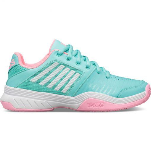 K-swiss junior tennisschoen Court Express Omni - Aruba Blue/Pink/White