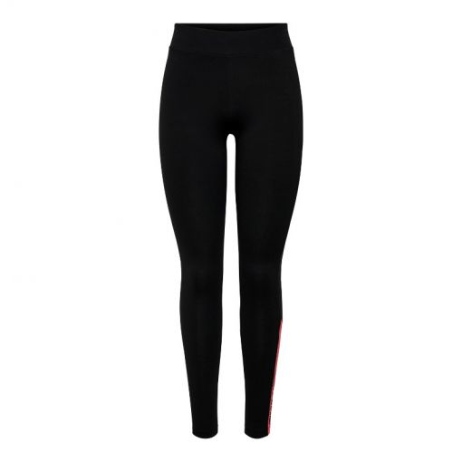 ONPSHELLY LIFE JERSEY LEGGINGS - 177911001 Black/W. CORAL