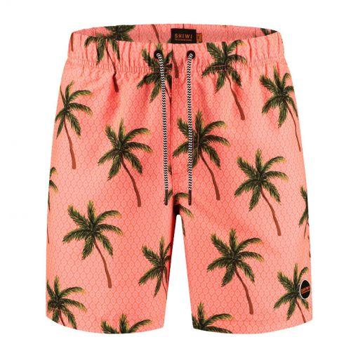 Men Swimshort Painted Palms - Oranje