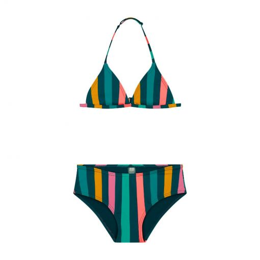 Girls Sunkissed Triangle Bikini - Multi