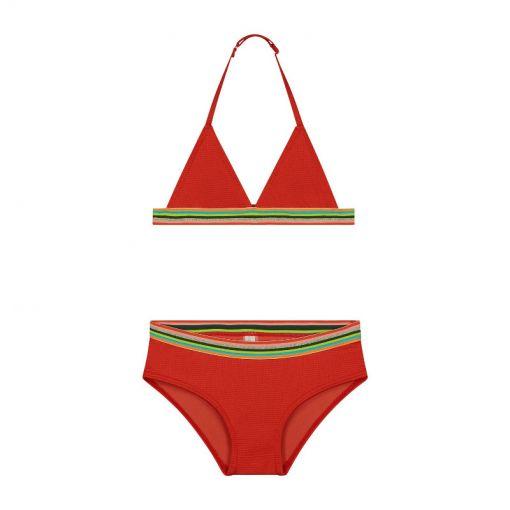 Girls Rainbow Triangle Bikini - 324 Tropic Red