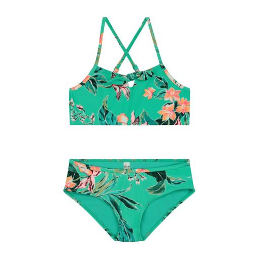 Girls Waikiki Scoop Top Bikini - 773 Aqua Green