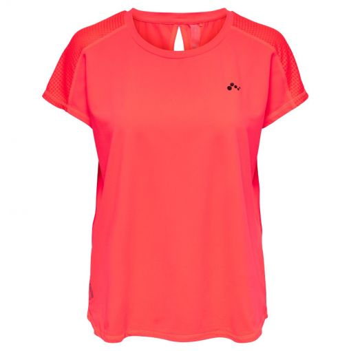 Onp Sul Loose Ss Training Tee - Fiery Coral