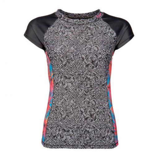KELSBY rashguard short sleeve - Zwart