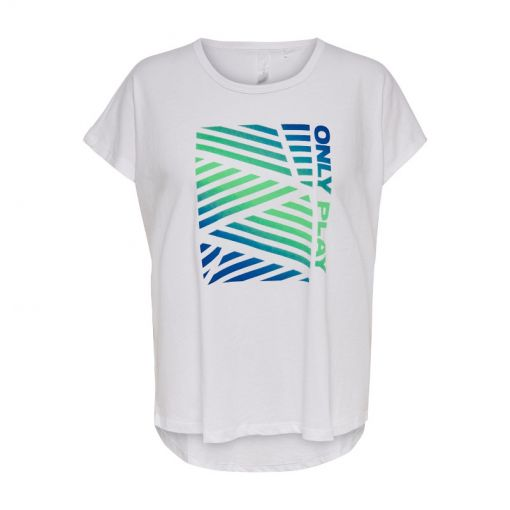 Only dames t-shirt Mindy Life Loose Ss Tee - Wit