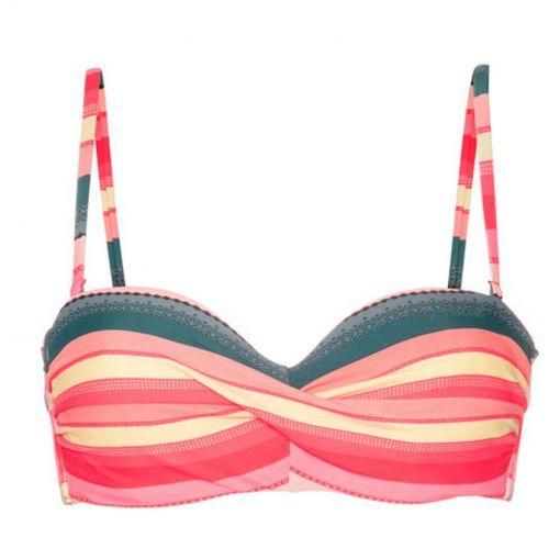 MM MADEIRA CCUP bandeau bikini top - 934 Grenadine