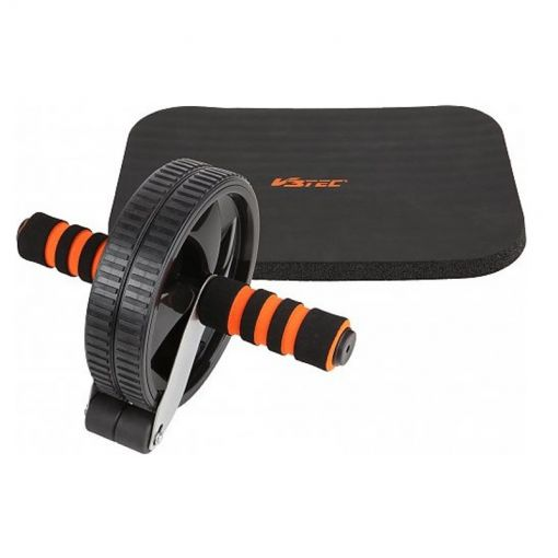 V3Tec buikspier wiel - 9005 schwarz-orange