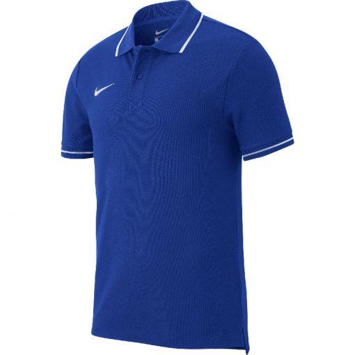 Nike heren polo Team Club - 463 Ryl/White