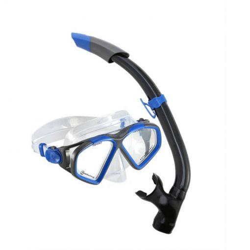 Aqua Lung snorkelset Hawkeye Combo - Blue/Dark Grey