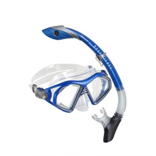 Aqua Lung snorkelset Trooper Combo - Blauw