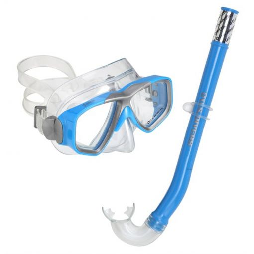 Aqua Lung junior snorkelset Java Combo - Blauw