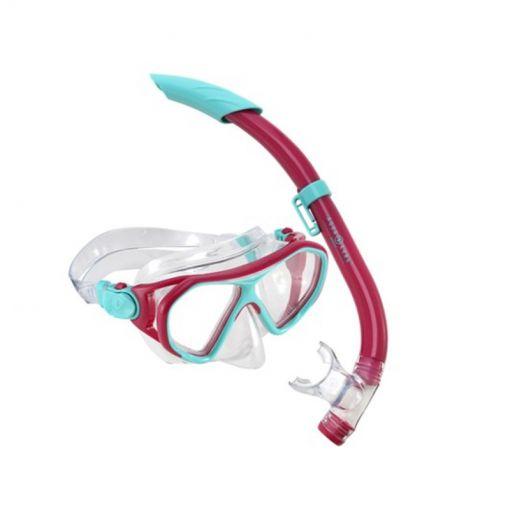 Aqua Lung junior snorkelset Urchin Combo - Bright Pink/Turquise