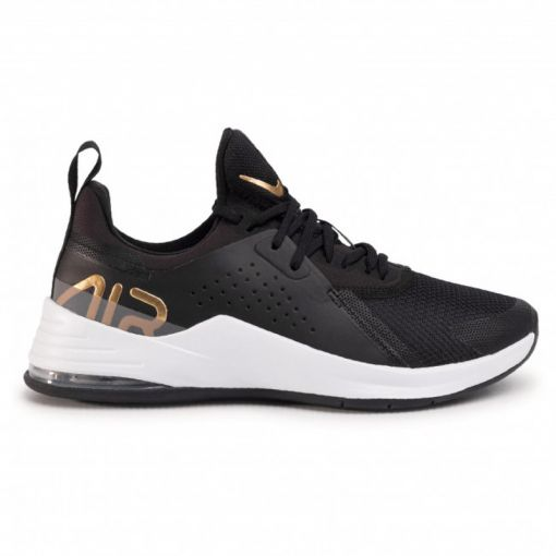 Nike Air Max Bella TR 3 Women',WHI - 005 BLACK/METALLIC GOLD-FLAT P