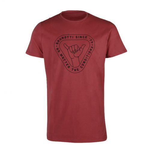 Brunotti heren t-shirt Tim Print - Rood