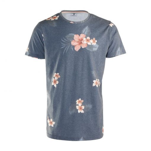 Brunotti heren t-shirt Jason-Flower - 0524 Jeans Blue