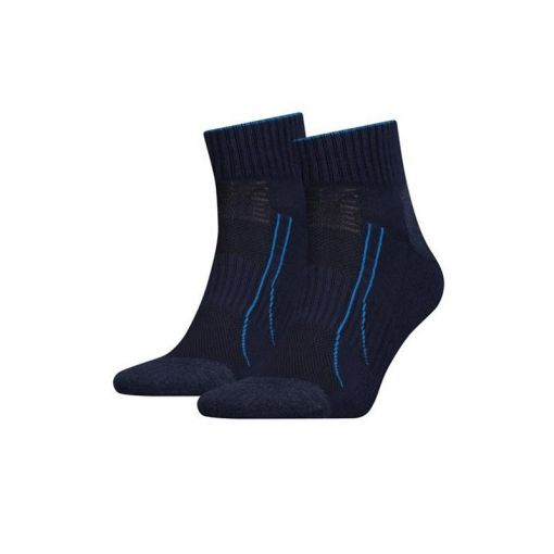 Puma heren hardloopsok 2pack Performance Train - Blauw