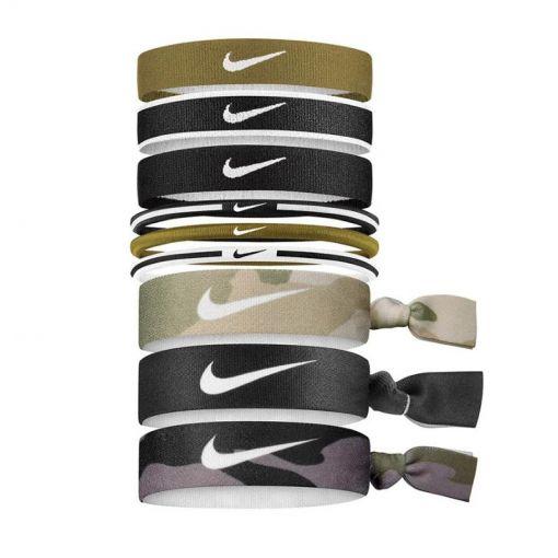 Nike haarelastiekjes Mixed Ponytail Holder 9PK - 332 GrnWhiBla