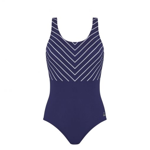 Pool Swimsuit Shape Soft Cup - Graphic Lines
