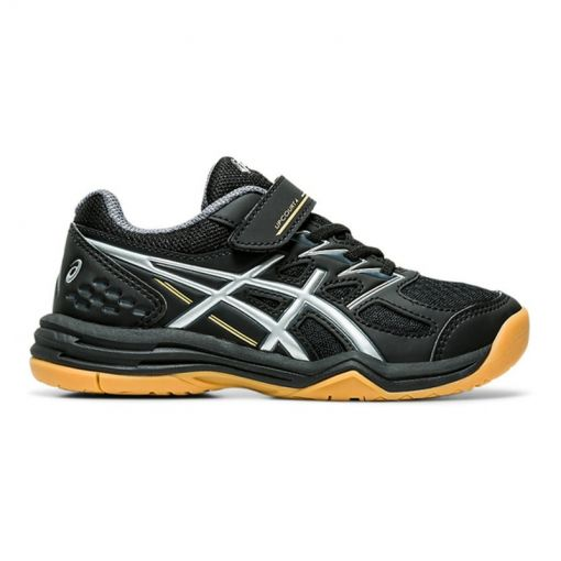 Asics junior indoorschoen Upcourt - 001 Black/Pure Silver