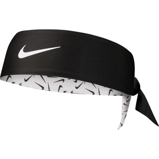 NIKE PRINTED DRI-FIT HEAD TIE 2.0 - 176 WhiBlaWhi