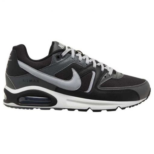 NIKE AIR MAX COMMAND LEATHER M,VELV - 001 BLACK/WOLF GREY-IRON GREY-