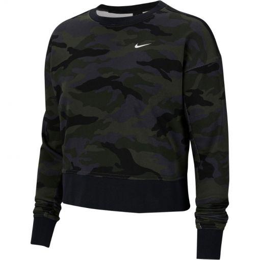 Nike dames trui Dry Get Fit Fleece CW PP2 Camo - 082 THUNDER GREY/WHITE