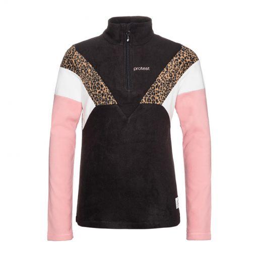 Protest meisjes pully Evy JR 1/4 zip top - Zwart