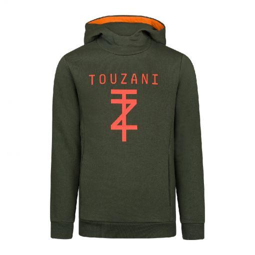 TZ-Hoodie Jr. - Green - 80% Cotton - zwart