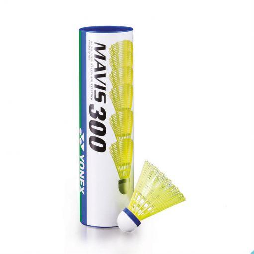 Yonex badminton shuttles Tube 6 Mavis 300 - geel