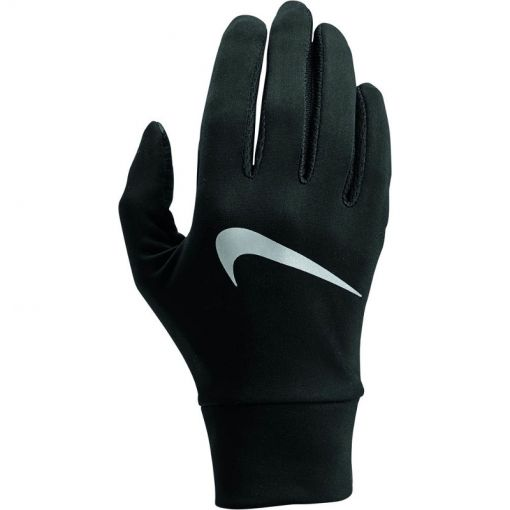 NIKE WOMEN'S LIGHTW TECH RUN GLOVES - 082 BlaBlaSil