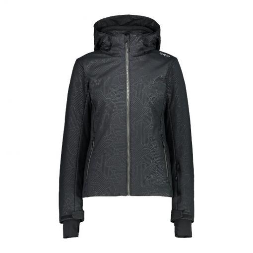 Woman Jacket Zip Hood - Zwart