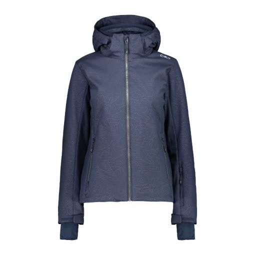Woman Jacket Zip Hood - Donker blauw
