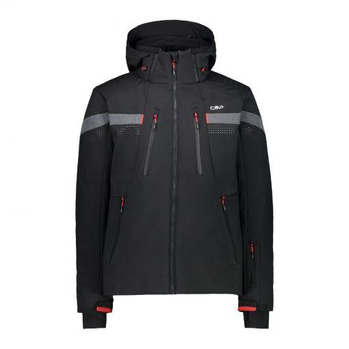 Man Jacket Zip Hood - Zwart
