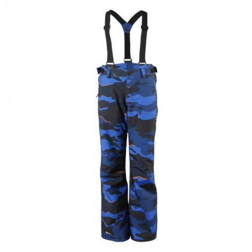 Footstrap-AO-JR Boys Snowpants - 0477 Bright Blue