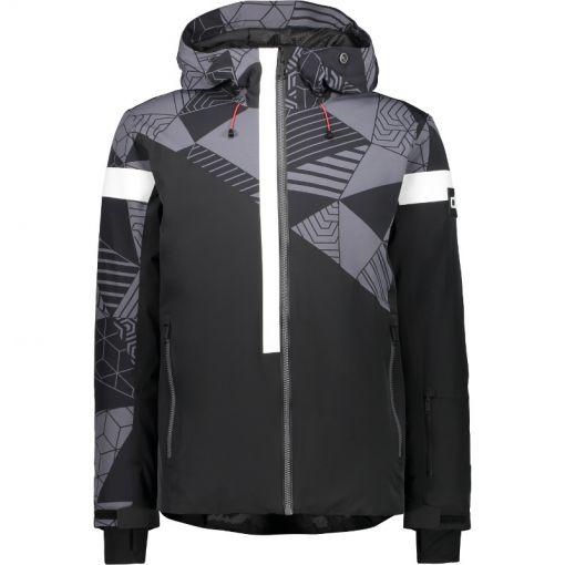 Man Jacket Fix Hood - Zwart