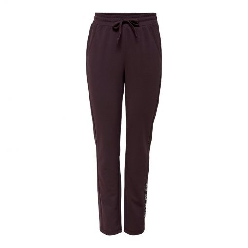 Only dames joggingsbroek Nylah Slim Sweat Pants - 184723002 Fudge/w. White