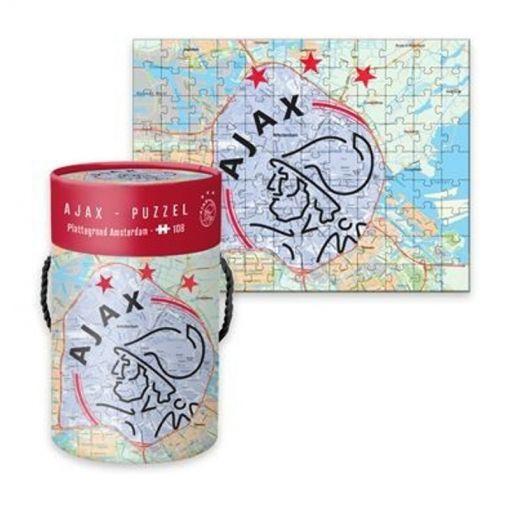 Puzzel Ajax Plattegrond 108 Stks - Amsterdam en Logo