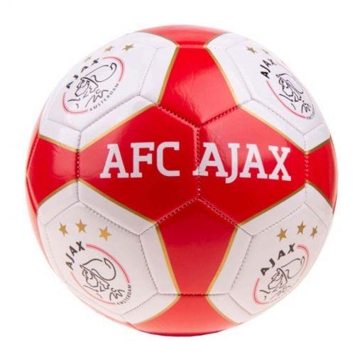 Bal Ajax Groot - Rood/Wit Vlakken