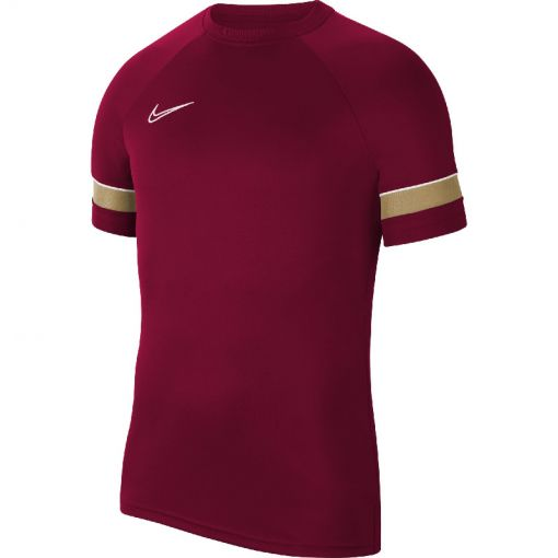 NIKE DRI-FIT ACADEMY MENS SHORT-SLEEVE - 677 TEAM RED/WHITE/JERSEY GOLD