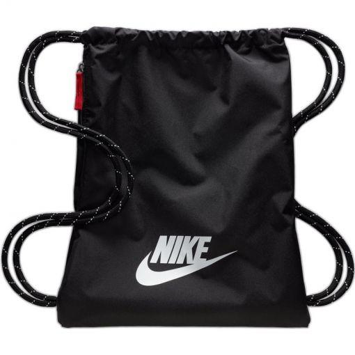 NOS Nike Heritage 2.0 Gym Sack,BLAC - zwart