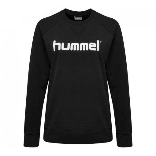 hummel Go Cotton Logo Sweatshirt Wo - Zwart