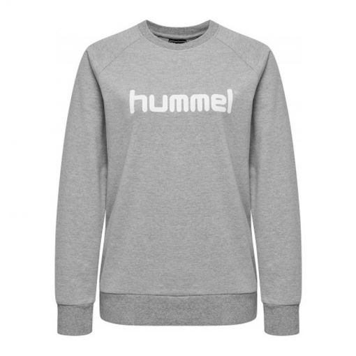 hummel Go Cotton Logo Sweatshirt Wo - 2006 Grey Melange