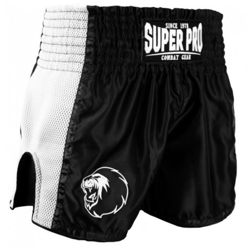SuperPro Thai en Kickboksshort - Zwart/Wit
