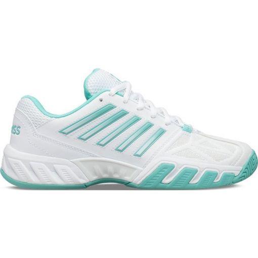 K-Swiss dames tennisschoen TFW Bigshot Light 3 - STD WHITE-ARUBA-BLUE