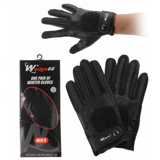 Wedge 68 heren golf winter handschoen - Zwart