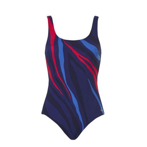 Tweka dames badpak Swimsuit Soft Cup - 2241 Zebra Navy