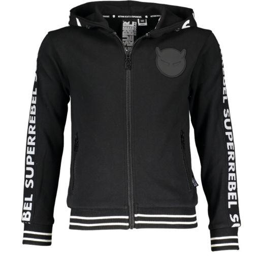 Superrebel Sweat Hooded Cardigan - Zwart
